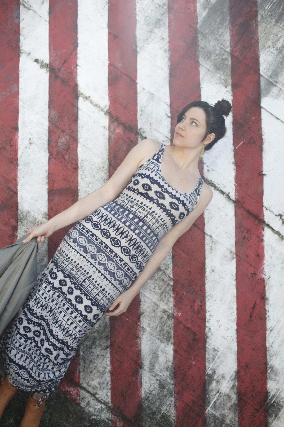 Ada Spragg // DIY Side-cinched Tribal Maxi Dress