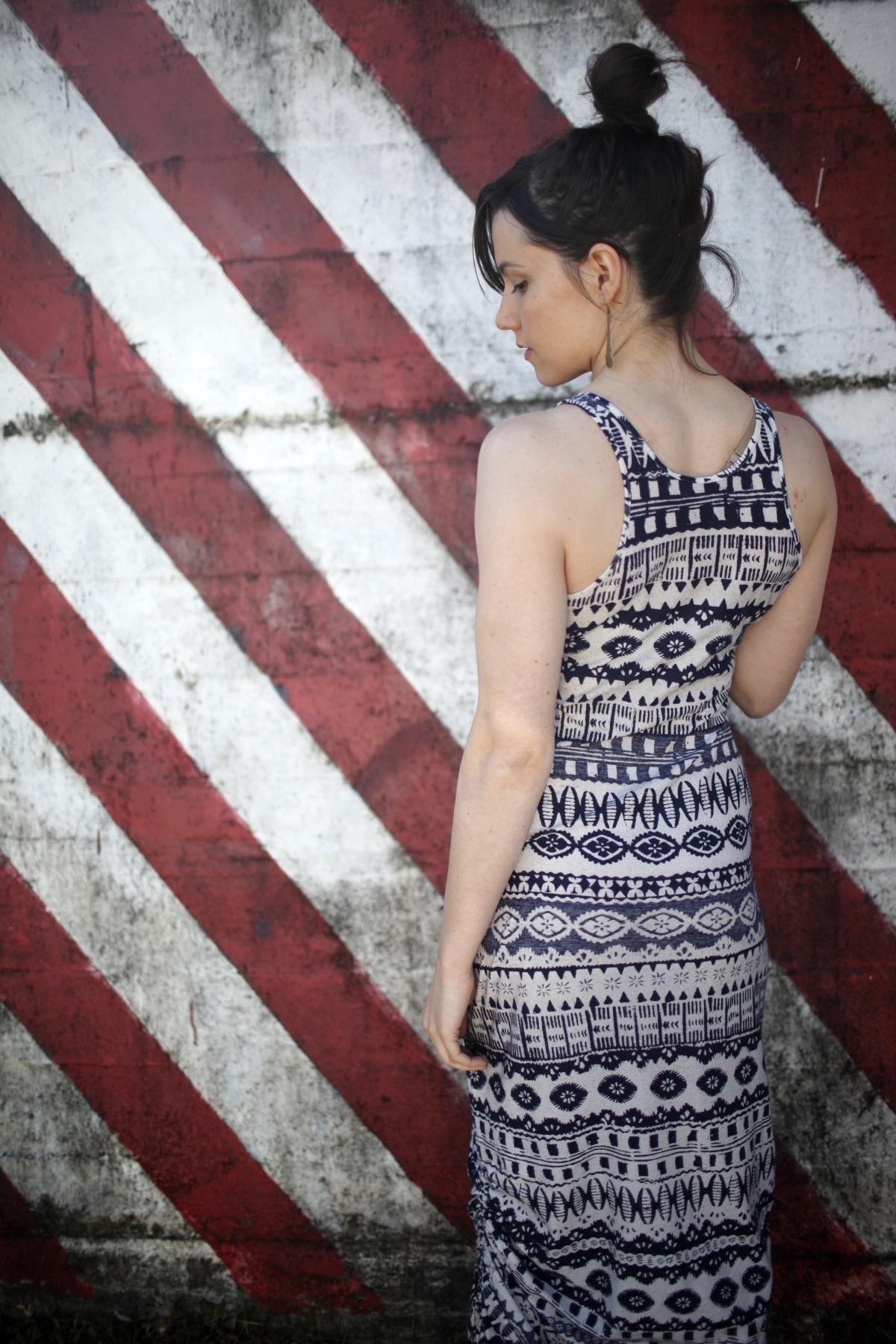 Ada Spragg // DIY Side-Cinched Maxi Dress