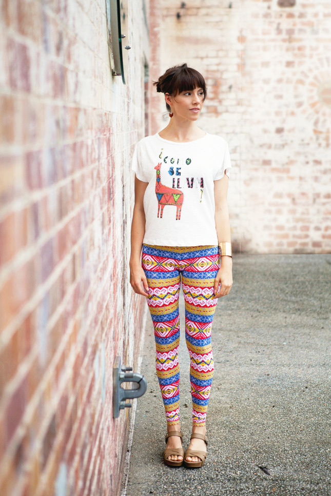 Ada Spragg // DIY Tribal Leggings