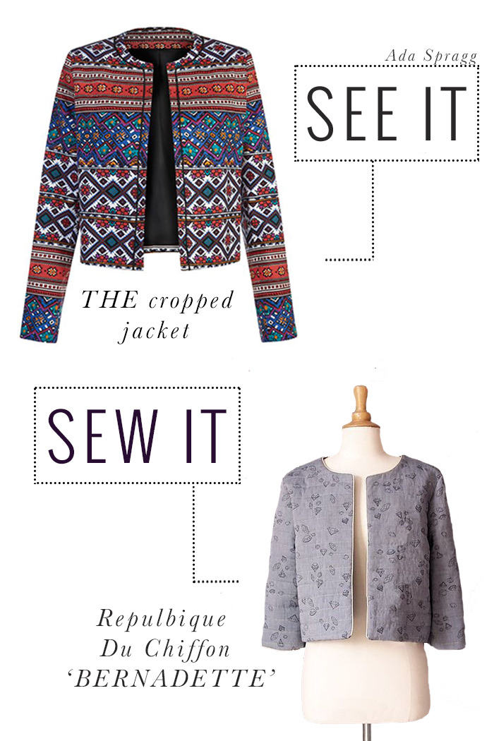 Ada Spragg: SEE IT SEW IT // The Cropped jacket