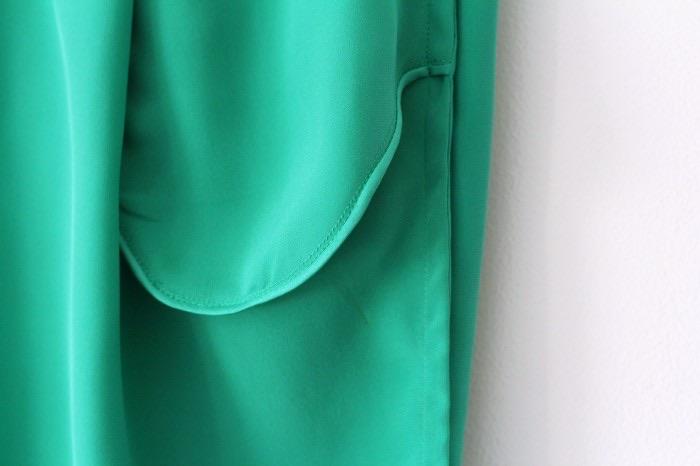 Ada Spragg // DIY Pleated Silk Pants- binding details