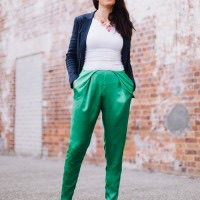 DIY Pleated Silk Pants // Ada Spragg + Britex Fabrics