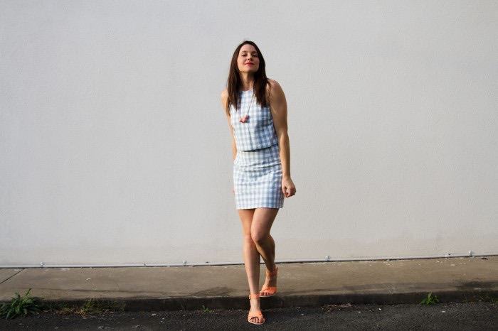 ADA SPRAGG | DIY Two-Piece-Sets | Salme Patterns 'Hannah' Top & Vogue 1247