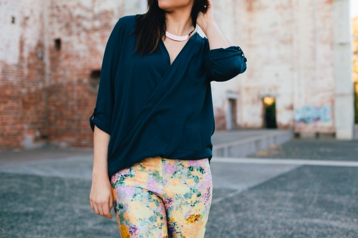 ADA SPRAGG // Not Your Nanna's Sewing // Style Arc Dotty Blouse + DIY Leggings