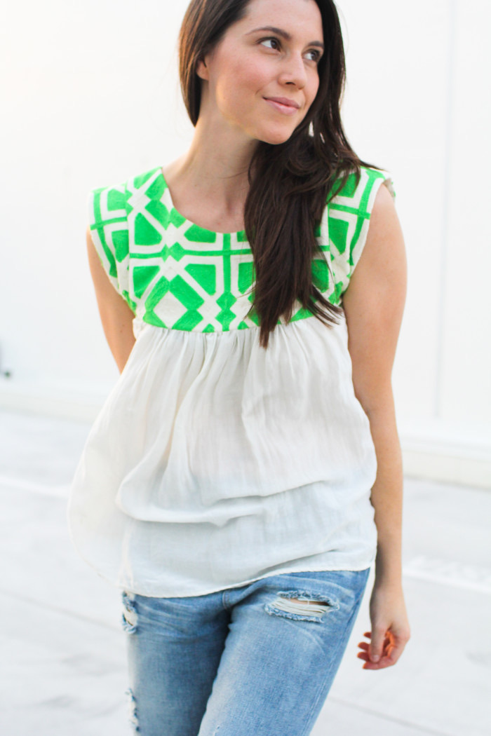 ADA SPRAGG | Not Your Nanna's Sewing|DIY Embellished Summer Top