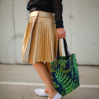 DIY SPORTY LUXE: Skirt of A Thousand Pleats
