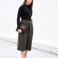 Croc-Culottes + Turtleneck